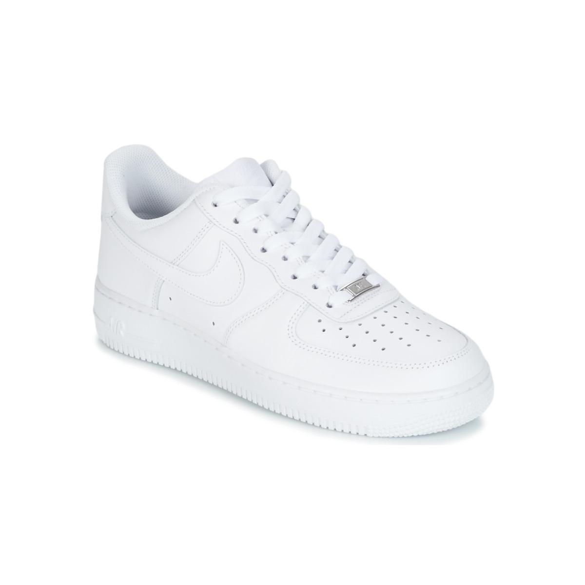 competitive price 6b2c4 41706 Nike AIR FORCE 1 07 Wit - Gratis levering bij Spartoo.nl ! - Schoenen Lage  sneakers Heren € 98,95