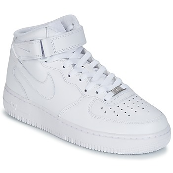 Schoenen Heren Hoge sneakers Nike AIR FORCE 1 MID 07 LEATHER Wit