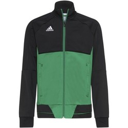 Textiel Jongens Trainings jassen adidas Performance Tiro17 Training Jack Zwart / Groen / Wit