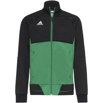 Textiel Jongens Trainings jassen adidas Originals Tiro17 Training Jack Noir / Vert / Blanc