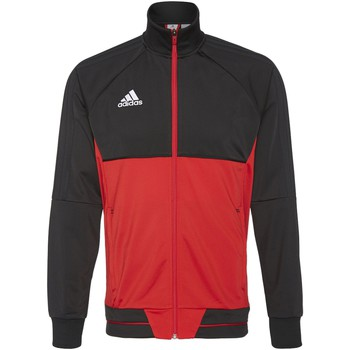 Textiel Heren Trainings jassen adidas Performance Tiro17 Training Jack Zwart / Rood / Wit