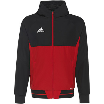 Textiel Heren Trainings jassen adidas Performance Tiro17 Presentation Jack Zwart / Rood / Wit