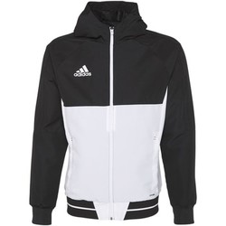 Textiel Heren Trainings jassen adidas Performance Tiro17 Presentation Jack Zwart / Wit