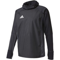 Textiel Heren Trainings jassen adidas Performance Tiro17 Warm Shirt Zwart / Grijs / Wit