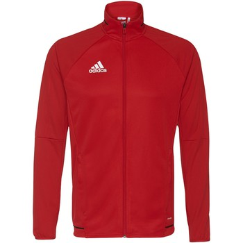 Textiel Heren Trainings jassen adidas Performance Tiro17 Training Jack Rood / Zwart / Wit