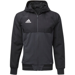Textiel Heren Trainings jassen adidas Performance Tiro17 Presentation Jack Zwart / Grijs / Wit