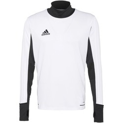 Textiel Heren T-shirts met lange mouwen adidas Performance Tiro17 Training Shirt Wit / Zwart