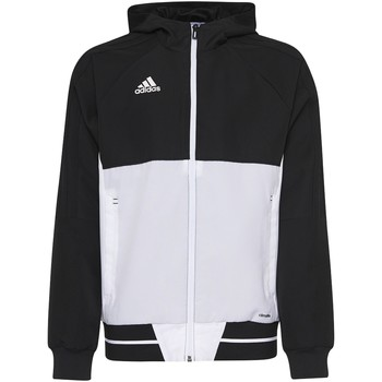 Textiel Jongens Trainings jassen adidas Performance Tiro17 Presentation Jack Zwart / Wit