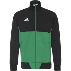 Textiel Heren Trainings jassen adidas Performance Tiro17 Training Jack Zwart / Groen / Wit