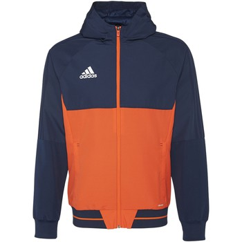 Textiel Heren Trainings jassen adidas Performance Tiro17 Presentation Jack Donkerblauw / Oranje / Wit
