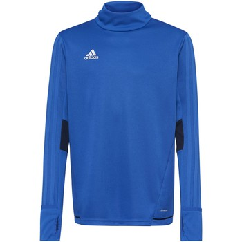 Textiel Heren Fleece adidas Performance Tiro17 Trainingsshirt Blauw / Donkerblauw / Wit