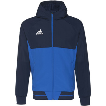 Textiel Heren Trainings jassen adidas Performance Tiro17 Presentation Jack Donkerblauw / Blauw / Wit