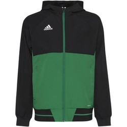 Textiel Jongens Trainings jassen adidas Performance Tiro17 Presentation Jack Zwart / Groen / Wit