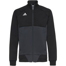Textiel Jongens Trainings jassen adidas Performance Tiro17 Training Jack Zwart / Grijs / Wit