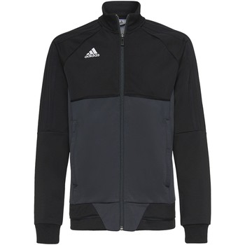 Textiel Jongens Trainings jassen adidas Originals Tiro17 Training Jack Noir / Gris / Blanc