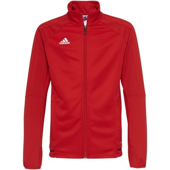 Textiel Jongens Trainings jassen adidas Performance Tiro17 Trainingsjack Rood / Zwart / Wit