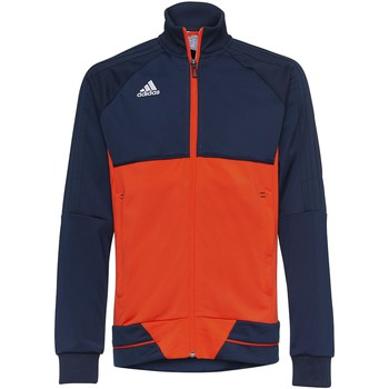 Textiel Jongens Trainings jassen adidas Originals Tiro17 Training Jack Bleu Foncé / Orange / Blanc