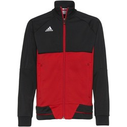 Textiel Jongens Trainings jassen adidas Performance Tiro17 Training Jack Zwart / Rood / Wit