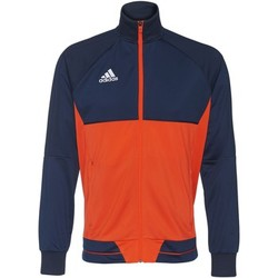 Textiel Heren Trainings jassen adidas Performance Tiro17 Training Jack Donkerblauw / Oranje / Wit