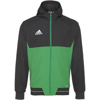 Textiel Heren Trainings jassen adidas Performance Tiro17 Presentation Jack Zwart / Groen / Wit