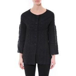 Textiel Dames Truien De Fil En Aiguille Gilet MaElla Noir AN 141 Zwart