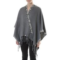 Textiel Dames Truien De Fil En Aiguille Poncho Senes  Anthracite  YM 121 Grijs