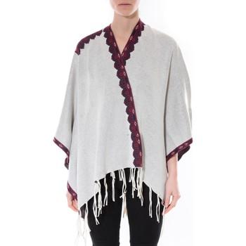 Textiel Dames Truien De Fil En Aiguille Poncho Senes  Beige  YM 121 Beige