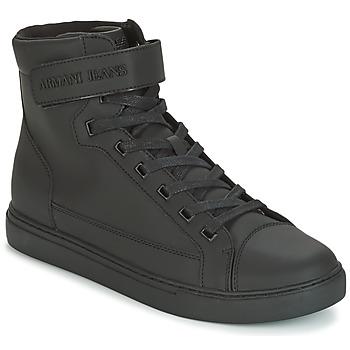 Schoenen Heren Hoge sneakers Armani jeans JEFEM Zwart
