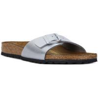 Schoenen Dames Leren slippers Birkenstock MADRID SILVER CALZ S Argento