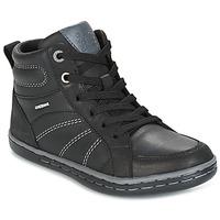 Schoenen Jongens Hoge sneakers Geox J GARCIA B. B Zwart / Grijs