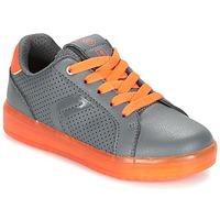 Schoenen Jongens Lage sneakers Geox J KOMMODOR B.B Grijs / Oranje