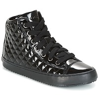 Schoenen Meisjes Hoge sneakers Geox J KALISPERA G.F Zwart