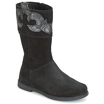 Schoenen Meisjes Hoge laarzen Geox J SHAWNTEL G. C Zwart