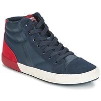 Schoenen Jongens Hoge sneakers Geox J ALONISSO B. A Marine / Rood