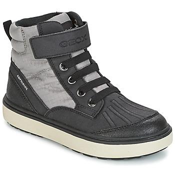 Schoenen Jongens Hoge sneakers Geox J MATT.B ABX B Grijs / Zwart
