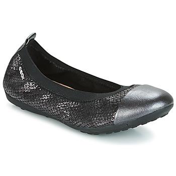 Schoenen Meisjes Ballerina's Geox J PIUMA BAL B Zwart