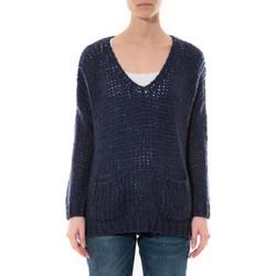 Textiel Dames Truien De Fil En Aiguille Pull  Senes  Bleu  Ym135 Blauw