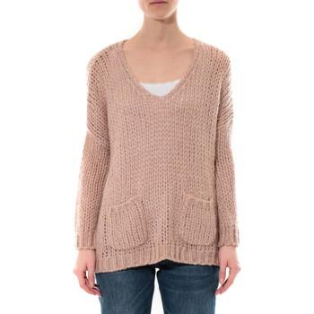 Textiel Dames Truien De Fil En Aiguille Pull  Senes Rose Ym135 Roze