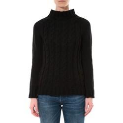 Textiel Dames Truien De Fil En Aiguille Pull Farfalla Noir Zwart