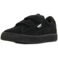 Schoenen Kinderen Sneakers Puma Suede 2 straps PS Zwart