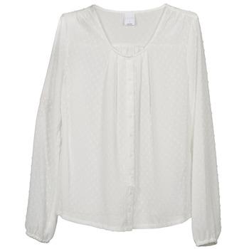 Textiel Dames Tops / Blousjes Vero Moda STORIES Ecru