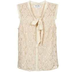 Textiel Dames Overhemden Vero Moda TINA Beige