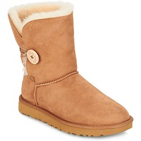 Schoenen Dames Laarzen UGG BAILEY BUTTON II Chestnut