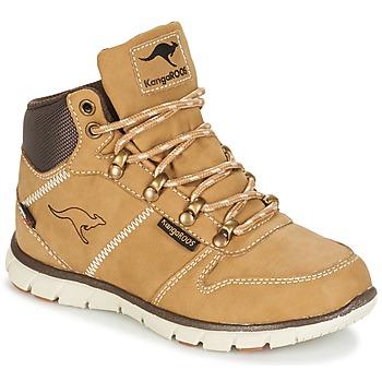 Schoenen Jongens Laarzen Kangaroos BLUERUN 2098 Beige