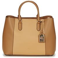 Tassen Dames Handtassen kort hengsel Ralph Lauren DRYDEN MARCY TOTE Cognac / Camel