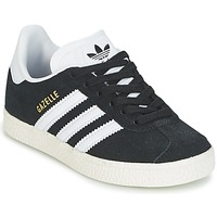Schoenen Jongens Lage sneakers adidas Originals GAZELLE C Zwart