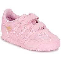 Schoenen Meisjes Lage sneakers adidas Originals DRAGON OG CF C Roze