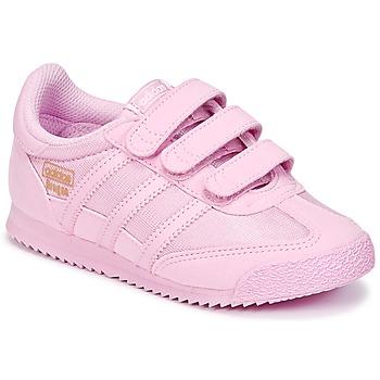 Schoenen Meisjes Lage sneakers adidas Originals DRAGON OG CF I Roze
