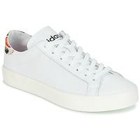 Schoenen Dames Lage sneakers adidas Originals Court Vantage Wit / Fleur