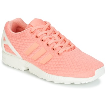 Schoenen Dames Lage sneakers adidas Originals ZX FLUX W Roze / Wit